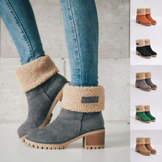 Womens Boots, thickheel, Winter, Womens Shoes