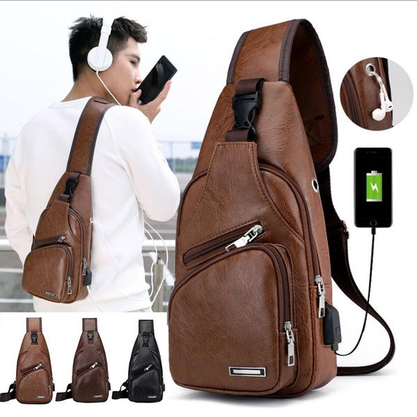 Backpack Sling Crossbody Bags Chest Shoulder Bag Hiking Daypacks w//Charger Port