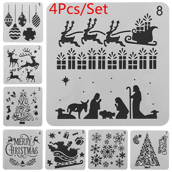 stencil, Scrapbooking, Christmas, painting