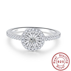 Cubic Zirconia, DIAMOND, 925 silver rings, Gifts