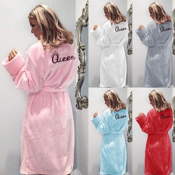 women's pajamas, womenbathrobe, Sleepwear, velvet
