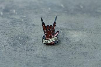 Pins, Brooch Pin, Horror, enamelpin