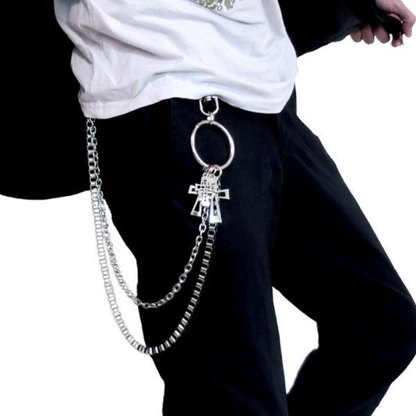 Decor, pantschain, metalcrucifixwaistchain, Waist