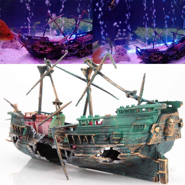 aquariumdecorationboat, Tank, wreckboat, aquariumdecoration