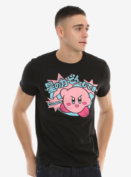Mens T Shirt, Fashion, kirbykanjitshirt, summerfashiontshirt