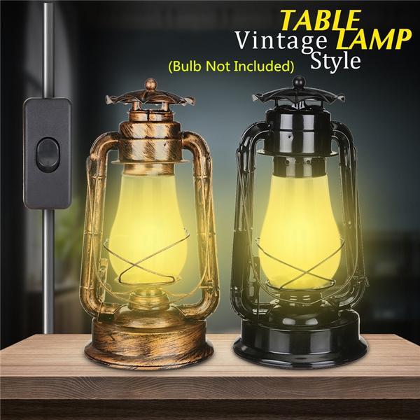 E27 110 220v Antique Electric Lantern, Electric Lantern Table Lamps