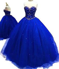 gowns, sweetheart, Dress, Women's Fashion