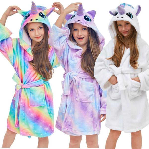 Fashion, kids clothes, Bathrobe, hooded