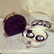 case, Mini, contactlen, lensholder