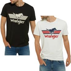 wrangler, Funny T Shirt, Cotton, Necks