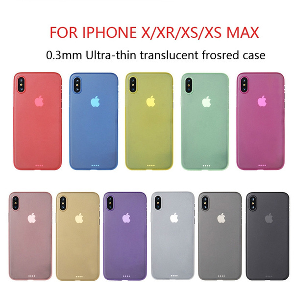 0.3mm Ultra Thin frosted Case For iphone X XR XS MAX Matte Plastic Back Cover Case for iphone X For iphone XR XSMAX Fashion Case | Wish