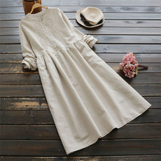 Vintage, Fashion, pleated dress, long sleeve dress