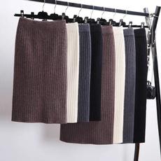 Thickening, long skirt, Fashion, Winter
