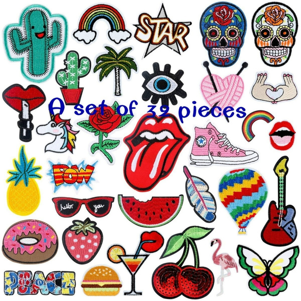 jacketsembroidery, Clothing & Accessories, Fashion, fabricsticker