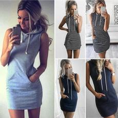 Summer, hooded, Cocktail dresses, Dress