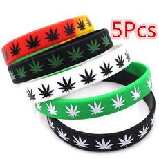 marijuanaleaf, leaf, Wristbands, Silicone