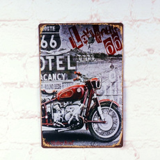 route66, posterspainting, Decor, licenseplate