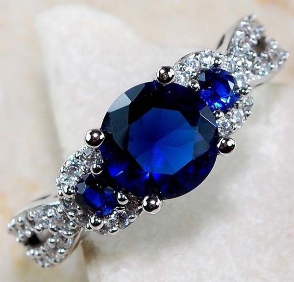 Sterling, Blues, Genuine, Jewelry