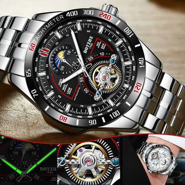 Steel, Watches, Stainless Steel Fashion Watch, Men