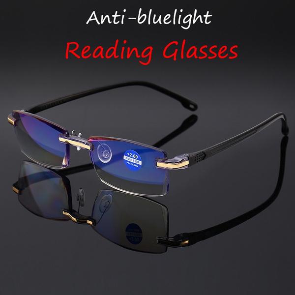 Blues, DIAMOND, longsightedeyewear, framelessglasse