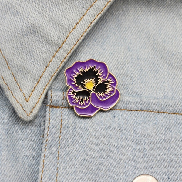 Flowers, Pins, Gifts, purpleflower
