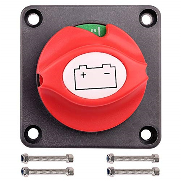with Long Bolt Battery Master Switch Isolator for Auto Truck Vehicle Rv Boat Marine Battery Cut Shut Off LotFancy Side Post Battery Disconnect Switch