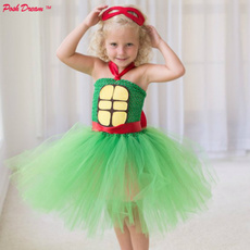 Turtle, girls dress, Cosplay, kids clothes