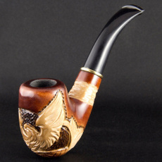 woodenpipe, Eagles, longpipe, Wooden