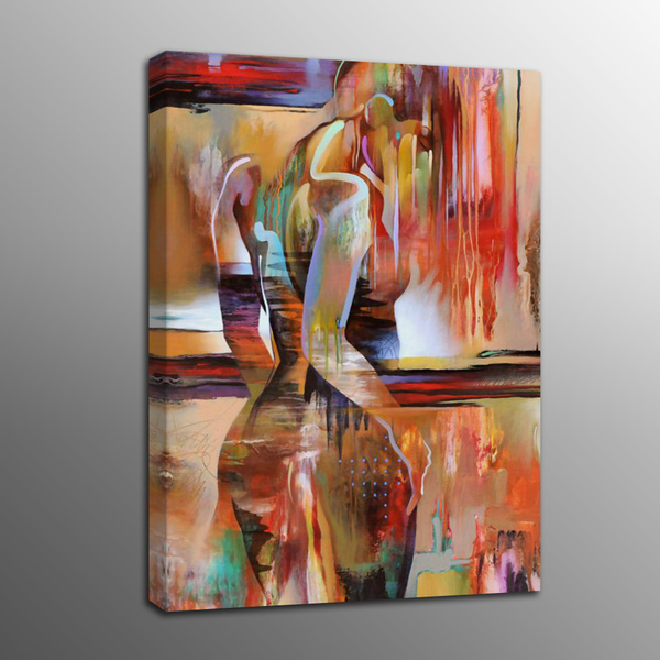 Abstract Oil Painting Canvas Prints Human Body Art Beautiful Dancer Canvas Painting Art Poster For Home Decor Frame No Wish