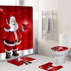Polyester, Christmas, Waterproof, showercurtainset