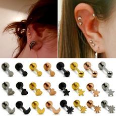 moonearring, Steel, stainless steel earrings, Jewelry