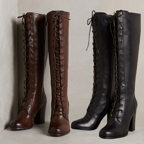 Tall Boots Faux Leather Boots Knee