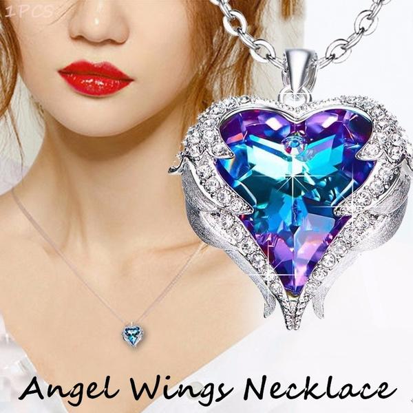 Blues, Heart, angelnecklace, Jewelry