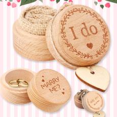 Box, burlap, wedding ring, marriageproposal
