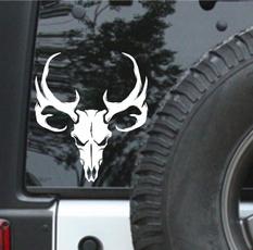 windowdecal, deerskull, stylingsticker, skull