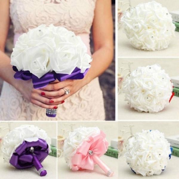 Flowers, roseflowersbouquet, Romantic, wand