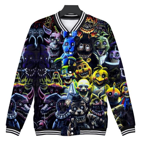 3D hoodies, Fashion, baseball jacket, fivenightsatfreddy