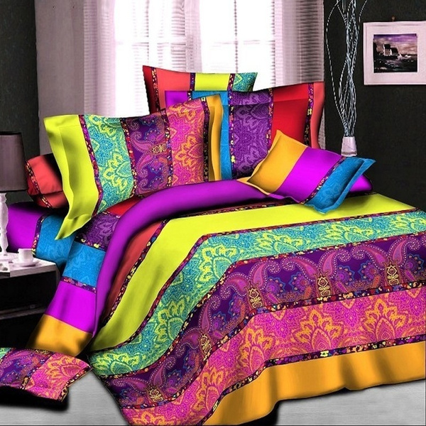 Christmas, Colorful, Bedding, Cover