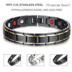 Steel, Men, 361lmagneticbracelet, magnetichealthbracelet