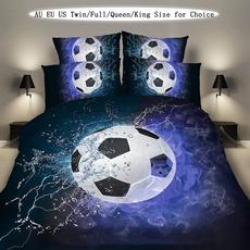 King, 3pcsbeddingset, Soccer, Pillow Covers