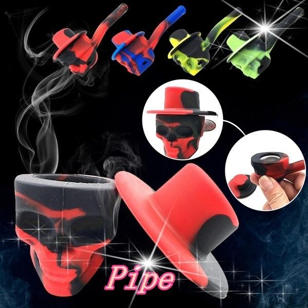 tobacco, skull, Silicone, glass pipe