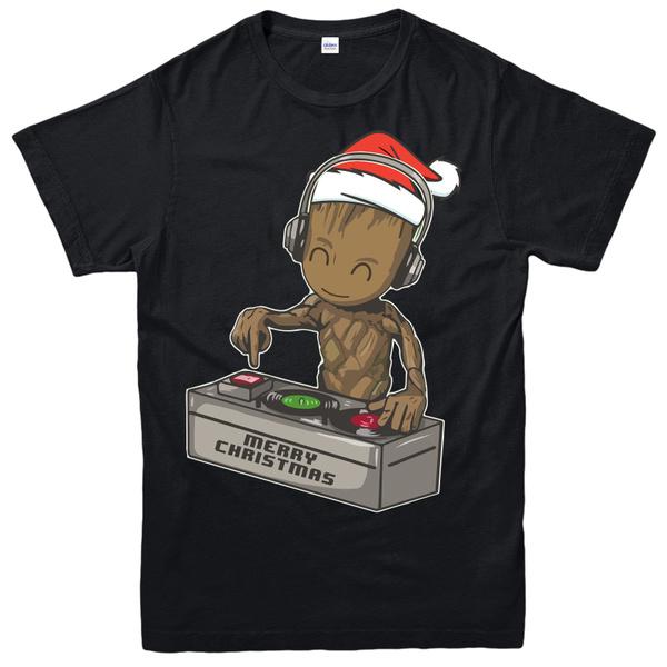 DJ Baby Groot Jumper Guardians Party Disco yoda Mixing Decks Gift Adult Kids Top