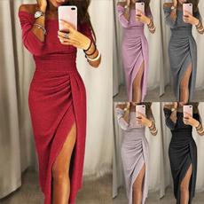 Plus Size, Sleeve, sexy club dresses, Long Sleeve