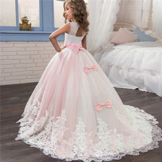 girls dress, tullepartydre, Encaje, longpromdresse