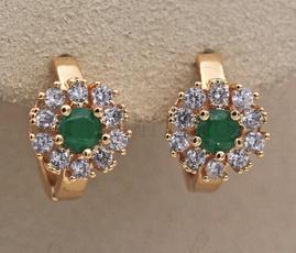 Hoop Earring, ruby, Jewelry, topazearring