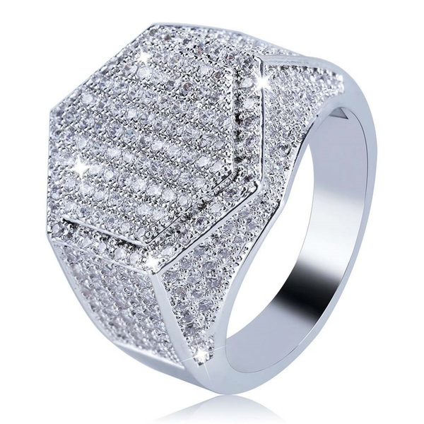 Cubic Zirconia, Copper, hip hop jewelry, Jewelry