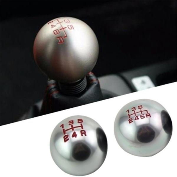 Round Ball Shift Knob Universal Shifter Manual JDM Aluminum MT Gear 4 Colors