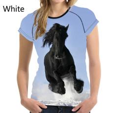 woman t shirt, horse, summer t-shirts, Shirt