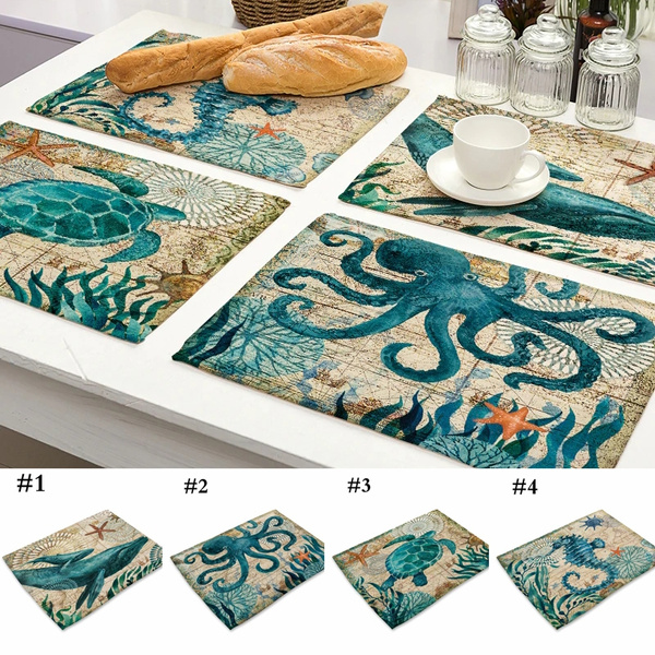 Turtle, Colorful, tablemat, Kitchen Accessories