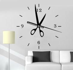 watchesbigwallclocksticker, barbershopdecor, bedroomdecoration, Clock